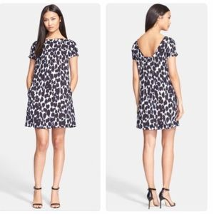 NWOT. Kate Spade Leopard Dress in Indigo Blue.